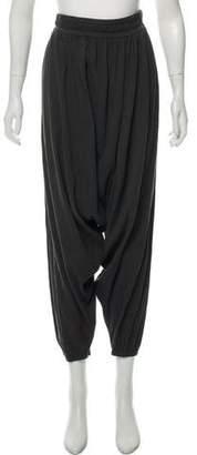 Black Crane High-Rise Harem Pants