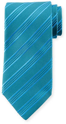 Charvet Border Stripe Silk Tie