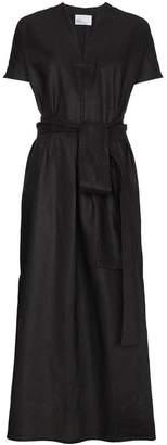 Lisa Marie Fernandez Rosetta linen kaftan with waist tie