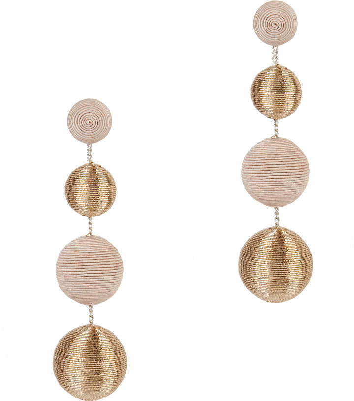 Suzanna Dai Blush And Gold Gumball Drop Earrings