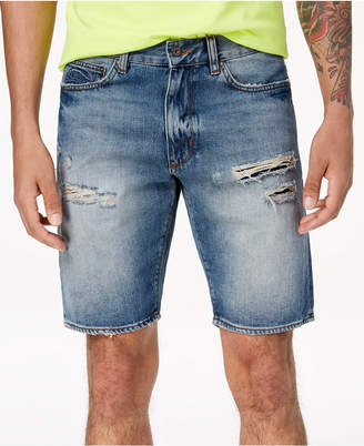 Superdry Men's Loose-Fit Destroyed Denim Shorts