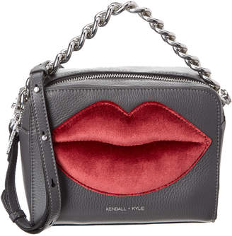 KENDALL + KYLIE Lucy Lips Leather Crossbody