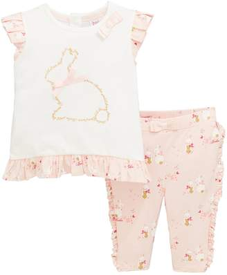 00b411b1a Ted Baker Baby Girls Bunnies Top And Legging Set - Pink