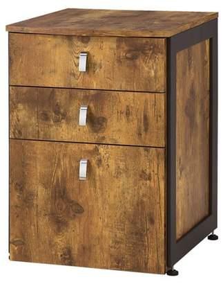 Coaster Company File Cabinet, Antique Nutmeg/Gunmetal