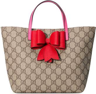 Children's GG Supreme bow tote $580 thestylecure.com