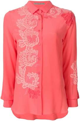 Ermanno Scervino embroidered long-sleeve shirt