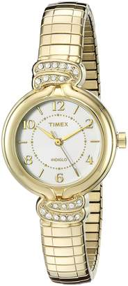Timex Women's TW2P613009J Main Street Collection Analog Display Quartz Gold Watch