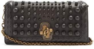 Bottega Veneta Knot bead-embellished leather clutch