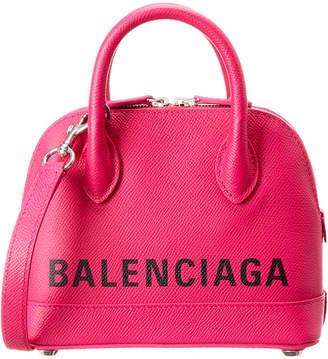 Balenciaga Ville Xxs Top Handle Leather Shoulder Bag