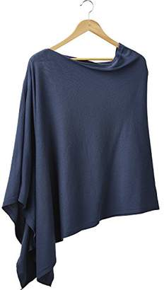 Tickled Pink Women's Everyday Basics Elegant Classic Solid Cotton Poncho