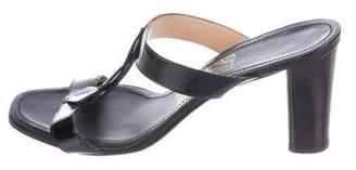 Salvatore Ferragamo Patent Leather Slide Sandals