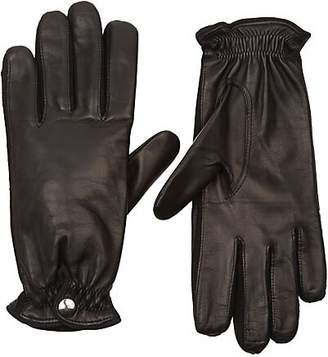 Barneys New York Women's Cashmere-Lined Leather Gloves - Black