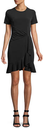 MICHAEL Michael Kors Twist-Waist Ruffled Dress