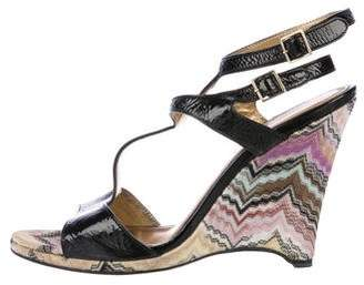 Missoni Patterned Patent Leather Wedges