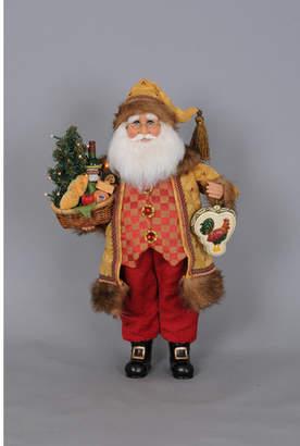 Karen Didion Christmas Lighted Tuscan Cuisine Santa Figurine