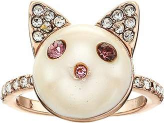 Betsey Johnson GBG) Pearl Cat Ring Size 7