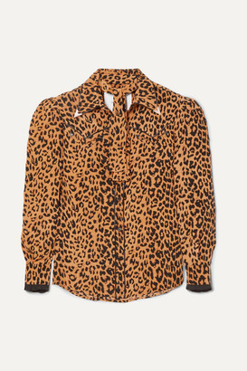 Pushbutton - Leopard-print Silk Shirt - Leopard print