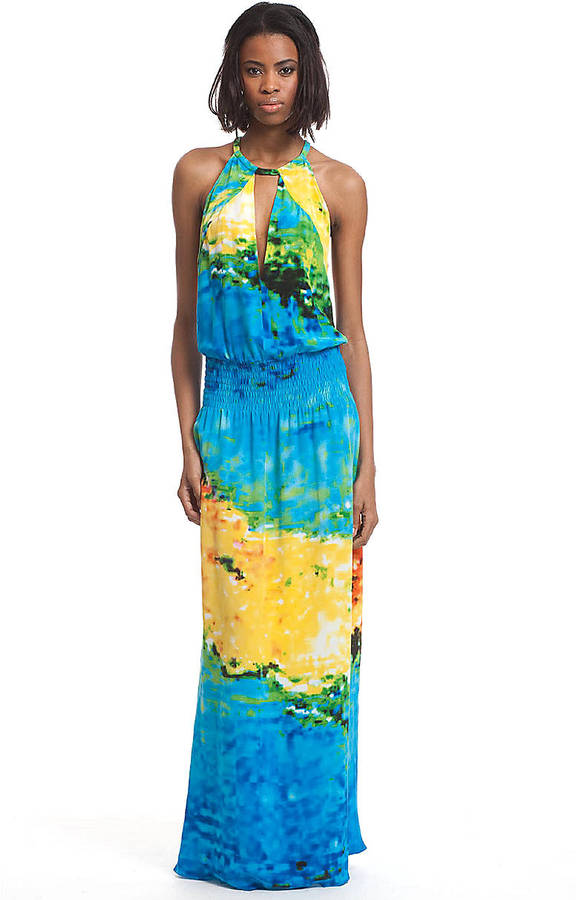 Tracy Reese Multi-Colored Sleeveless Maxi Dress