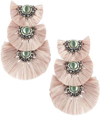Nakamol Three-Tier Tassel Drop Earrings