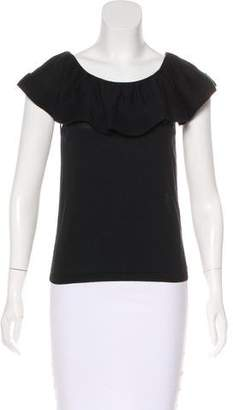 RED Valentino Ruffle-Trimmed Sleeveless Top