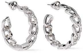 Noir Rhodium-plated Crystal Hoop Earrings