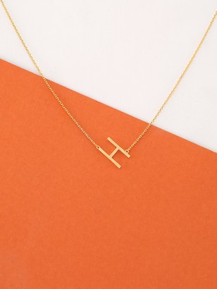 e31ad85759 Shein Dainty Gold Chain Letter H Pendant Necklace
