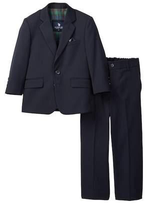 U.S. Polo Assn. Navy Microtech Classic 2-Button Suit (Little Boys & Big Boys)