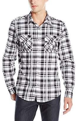 GUESS Men's Layne Plaid Military Shirt