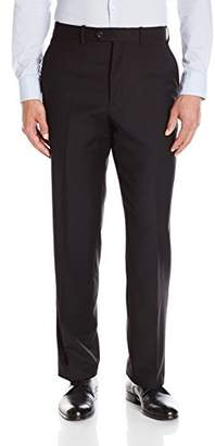 Adolfo Men's Wool and Cashmere Modern Fit Flat Front Suit Pant