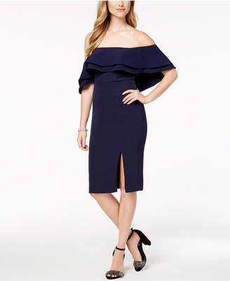Bardot Ruffled Off-The-Shoulder Dress