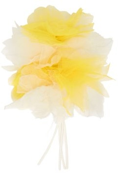 Rodarte Floral Tulle Bracelet - Womens - Yellow