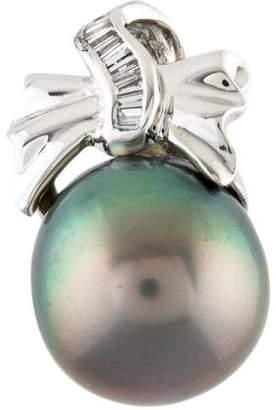 18K Pearl & Diamond Pendant