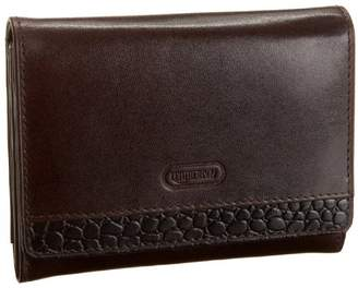 Leatherbay Accordian Wallet With Croc