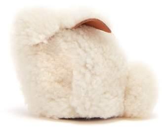 Loewe Bunny Shearling Coin Purse - Womens - Cream