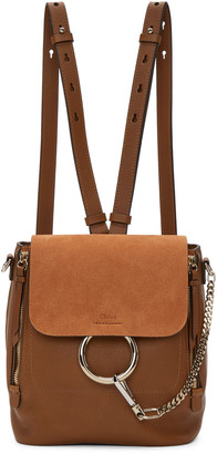 Chloé Tan Small Faye Backpack $1,850 thestylecure.com