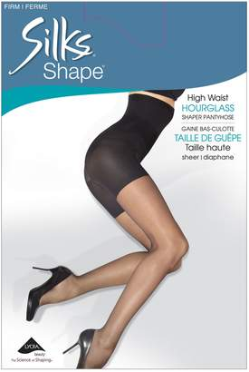 Hourglass Silks Shape Firm Control High Waisted Shaping Pantyhose With Sheer Leg