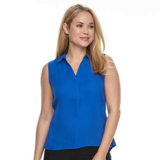 Dana Buchman Petite Sleeveless Collared Top