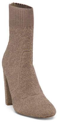 Boucle Stretch Knit Ankle Booties