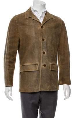 John Varvatos Deconstructed Suede Jacket