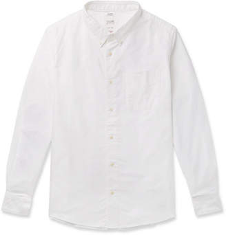 Visvim Button-Down Collar Checked Elbow-Patch Cotton Shirt