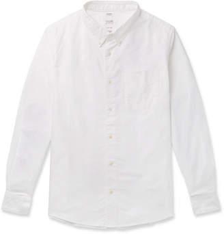 Visvim Button-Down Collar Checked Elbow-Patch Cotton Shirt