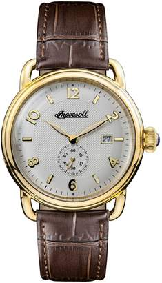 Ingersoll WATCHES New England Leather Strap Watch, 42mm