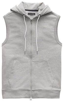 Banana Republic French Terry Full-Zip Hooded Vest