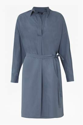 French Connenction Rhodes Poplin Belted Shirt Dress