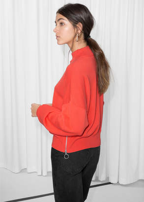 And other stories Zip Hip Sweater