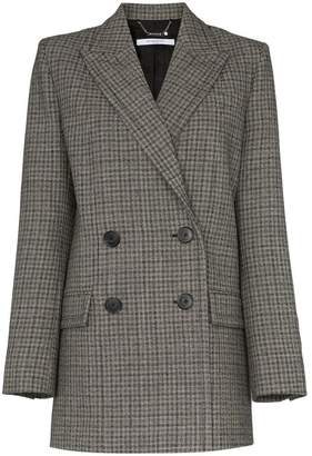 Givenchy double-breasted check wool blazer