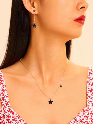 Shein Star Pendant Chain Necklace & Earrings 3pcs