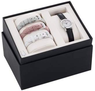 Bulova Ladies' 32mm Mother of Pearl Dial Watch in Stainless Steel with Leather Strap Set $187.50 thestylecure.com