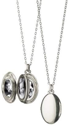 Monica Rich Kosann Four Image Oval Locket Necklace
