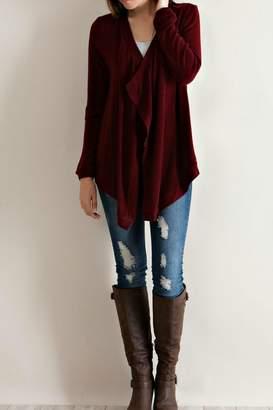 Entro Burgundy Sequin Sweater